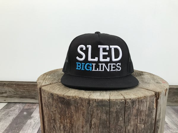 Image of Sled BigLines Mesh Trucker Hat - White/Blue