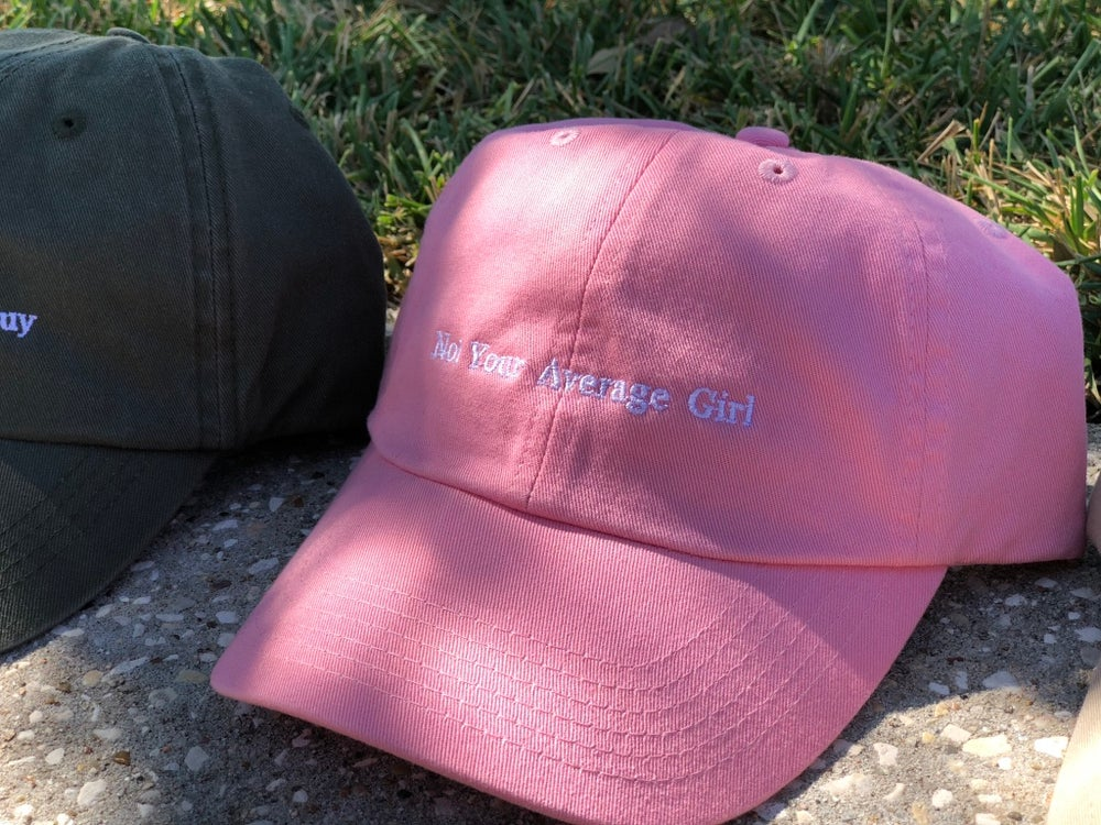 Image of Pink NYAGirl Dad Hat