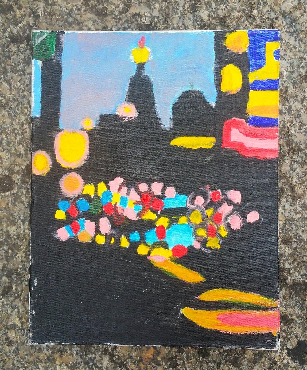 "Image of ""Manhattan"". Original painting."