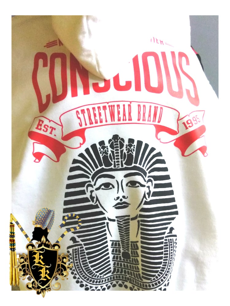 Image of HERU&TEHUTI&TUT ZIP-UP HOODIE