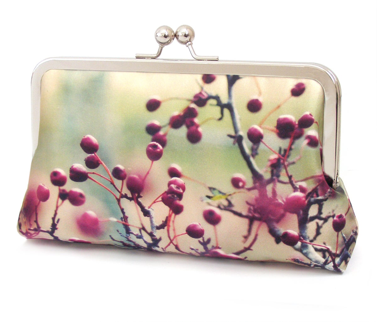 Image of Red berries clutch