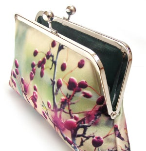 Image of Red berries clutch bag, hawthorn