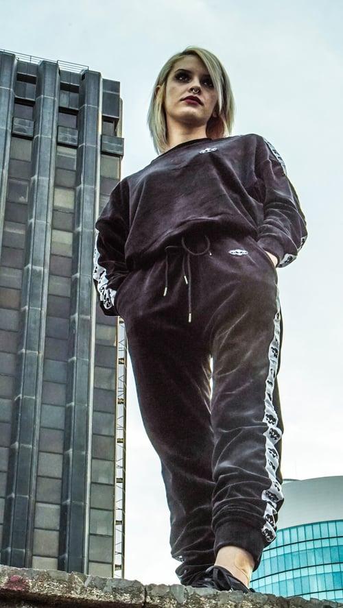 Image of Reptil. Velvet Track Pants