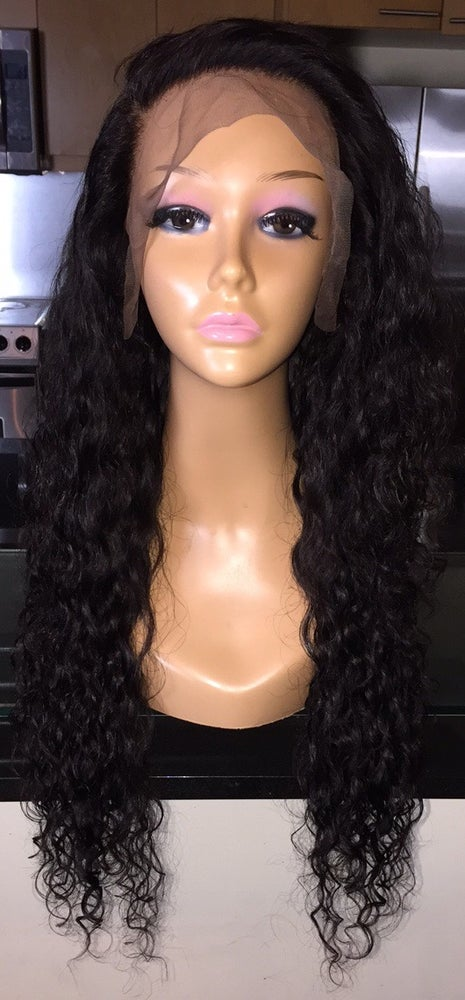 """Image of Cambodian Natural Wave 24"""" Custom Lace Frontal Wig!"""