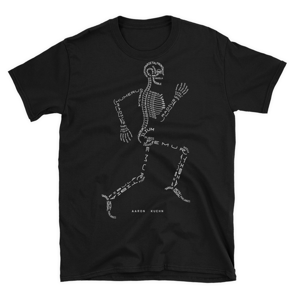 Image of Skeleton Typogram - T-shirt