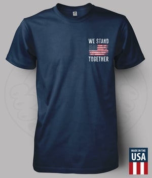 Image of WE STAND TOGETHER - AMERICAN FLAG T-SHIRT