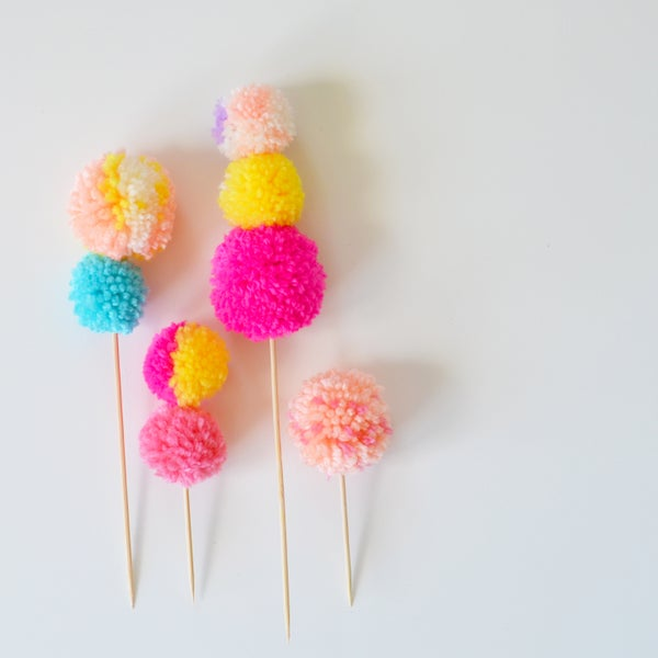 Image of Pom Cake Topper set