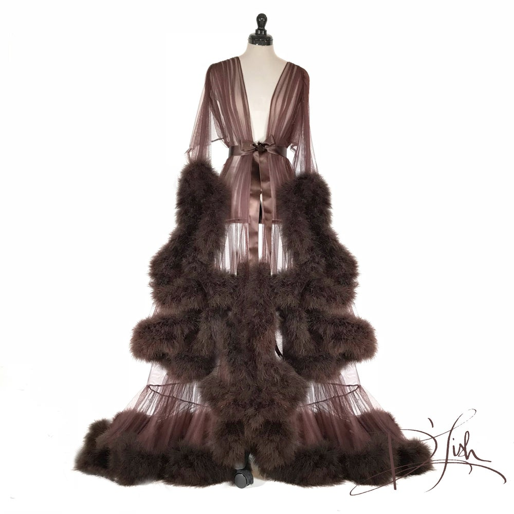Image of Deluxe Chocolate Cassandra Dressing Gown