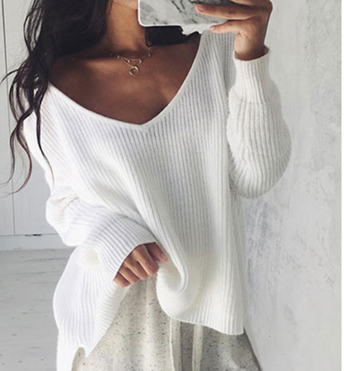 Image of Hot style irregular knit sweater