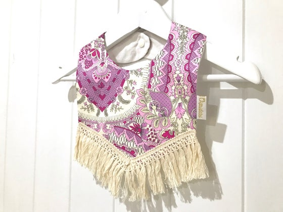 Image of Boho Tassel Bib - Voilet Fields