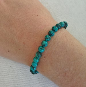 Image of Bracelet pierre turquoise naturelle du tibet