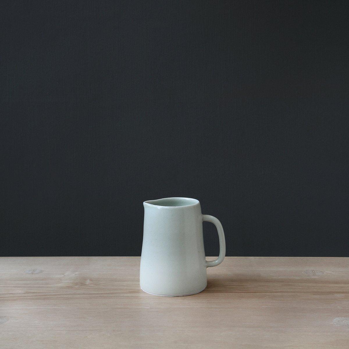 Image of Medium Green Crackle/Celadon Jug by Elaine Bolt