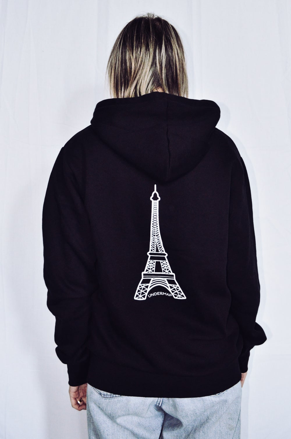 Image of HOODIE SWEATSHIRT WITH ZIP PARIS