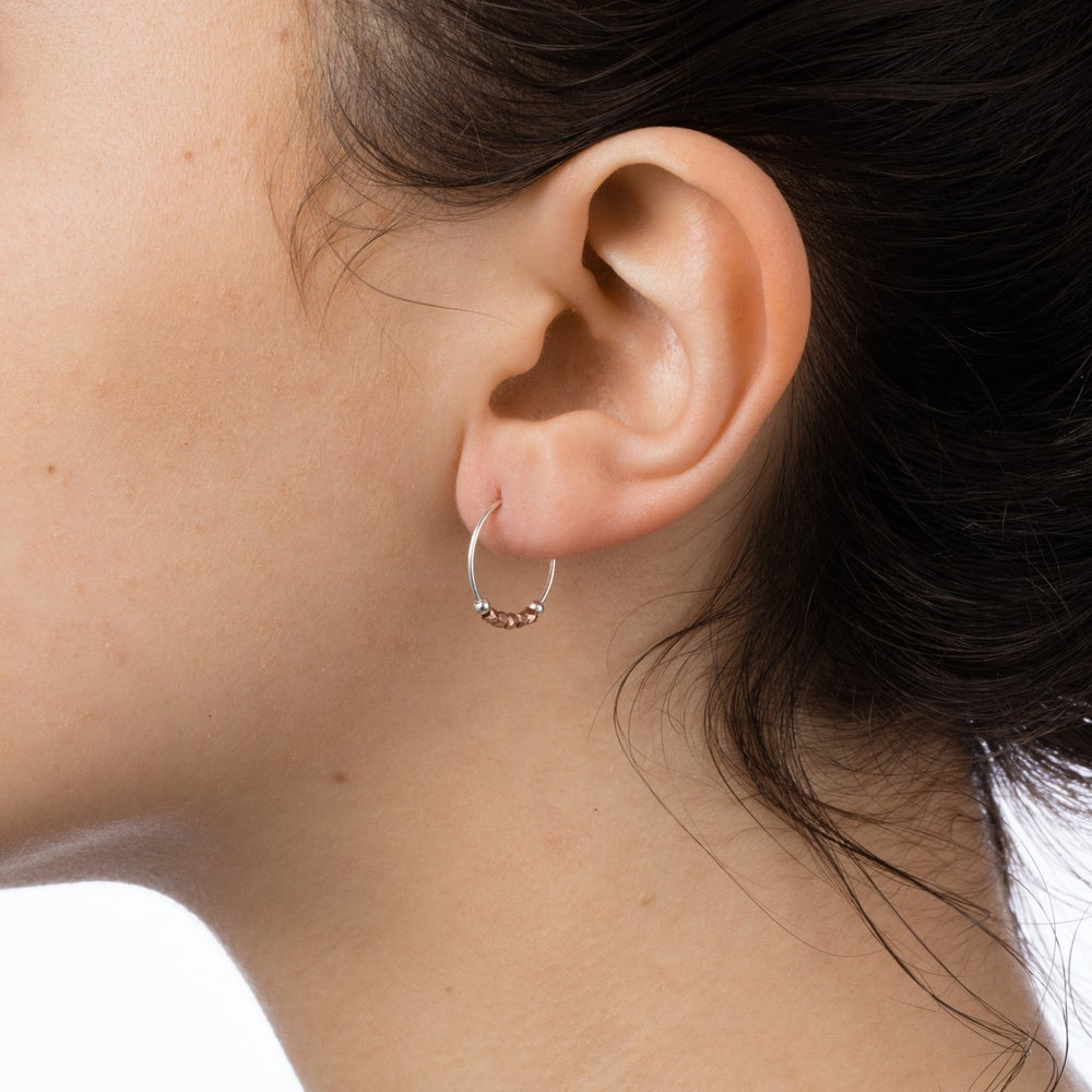 Image of Petite Fair Trade Metallic Hoops