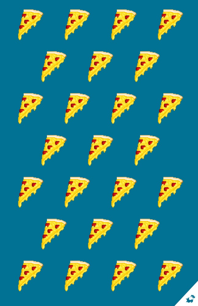 Image of Pizza Pixel Pattern