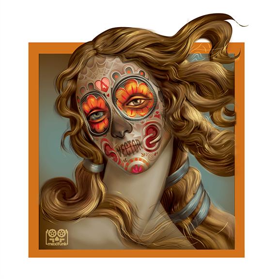 Image of Venus Dia de los Muertos-24x24-edtn 100- 2017
