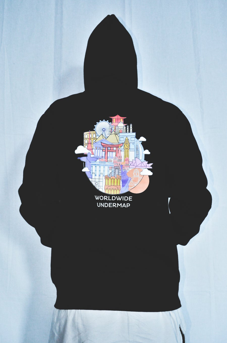 Image of HOODIE SWEATSHIRT WITH ZIP MONUMENTS