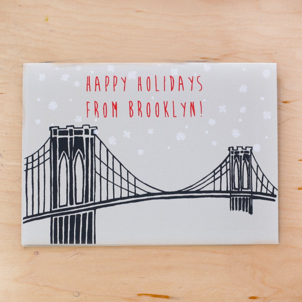 Image of Holiday Brooklyn Bridge