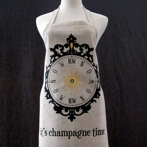 Image of apron: champagne time