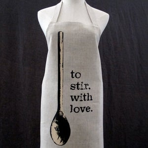 Image of apron: to stir, with love