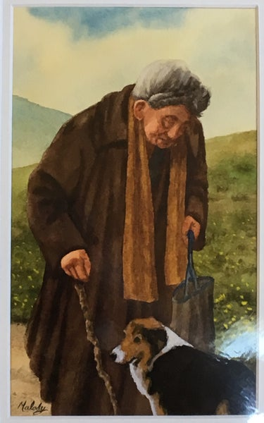 Image of Untitled: Old Woman with Dog