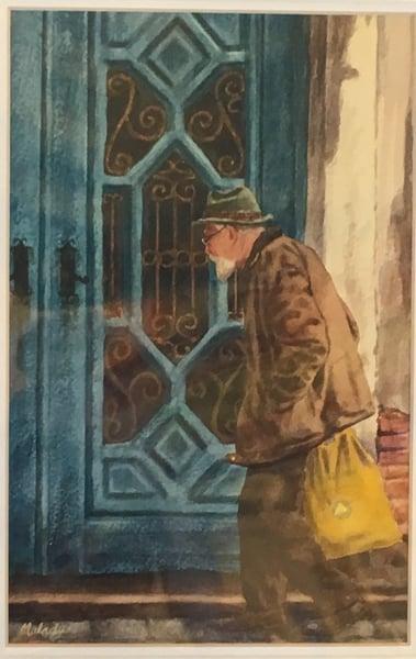 Image of Untitled: Old Man at Venetian Door