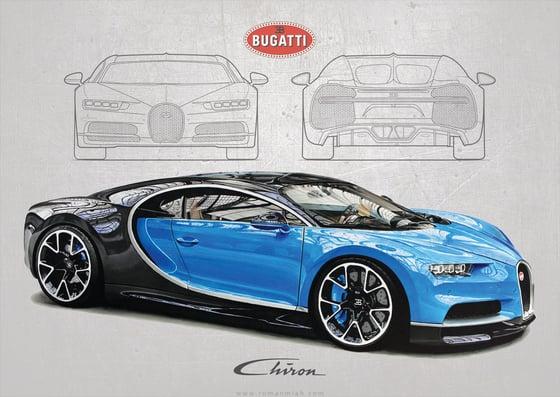 Image of Bugatti Chiron Poster Print