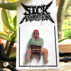 2 Can Sam Lapel Pin - Sick Animation Shop