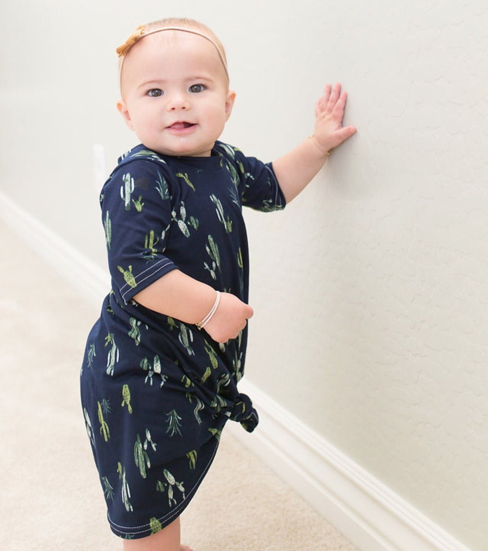 Image of Baby/Girls Navy Cactus Knot Knit