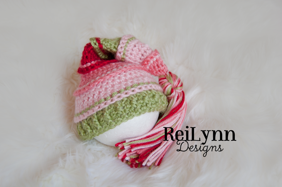 Image of Coral, Pink, Sage and Red Tassel Hat