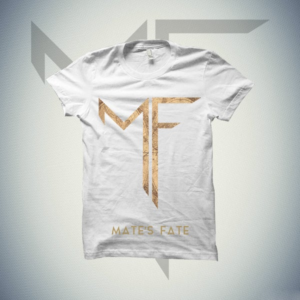 Image of MATE'S FATE LOGO T-SHIRT (WHITE)