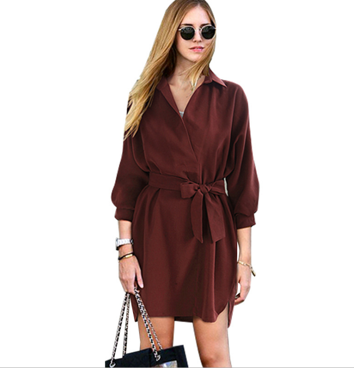 Image of The new baggy collar band dress