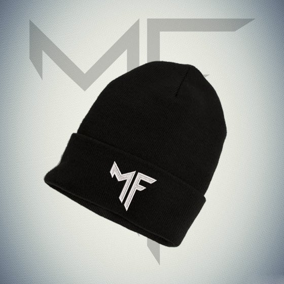 "Image of ""MF"" LOGO EMBROIDERY BEANIE"