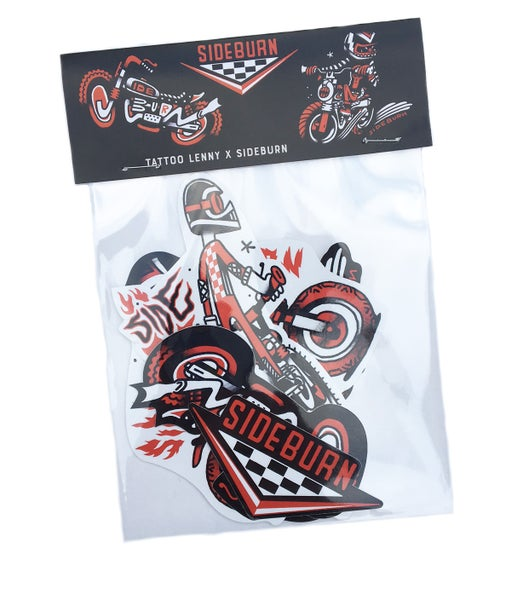 Image of Sideburn Lenny Flash sticker pack