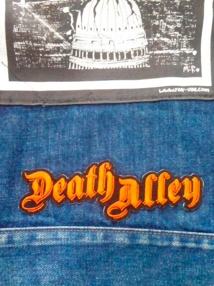 Image of Death Alley patch orange logo