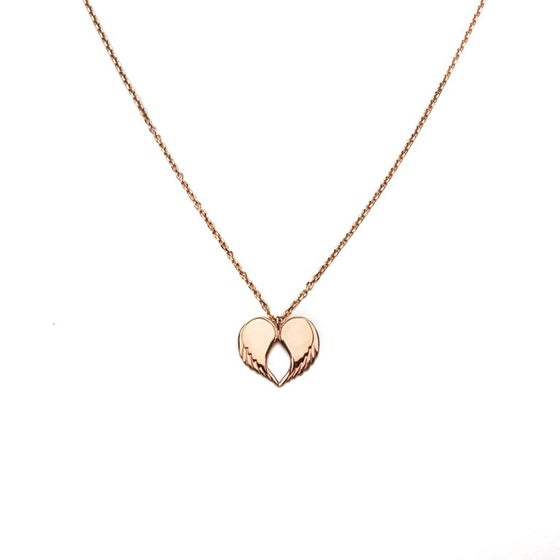 "Image of Angel Love Pendant - LONG Rose Gold Plated 30"" Chain"