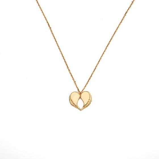 "Image of Angel Love Pendant - SHORT 18ct Yellow Gold Plated 18"" Chain"