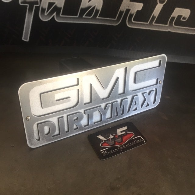 "Image of GMC ""DIRTYMAX"" - Two Layer Hitch Cover"