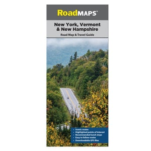 Image of New York, New Hampshire & Vermont Road Map
