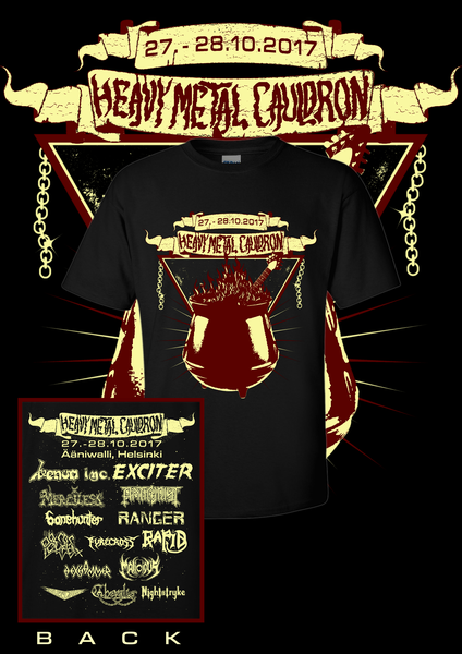 Image of Heavy Metal Cauldron 2017 T-Shirt
