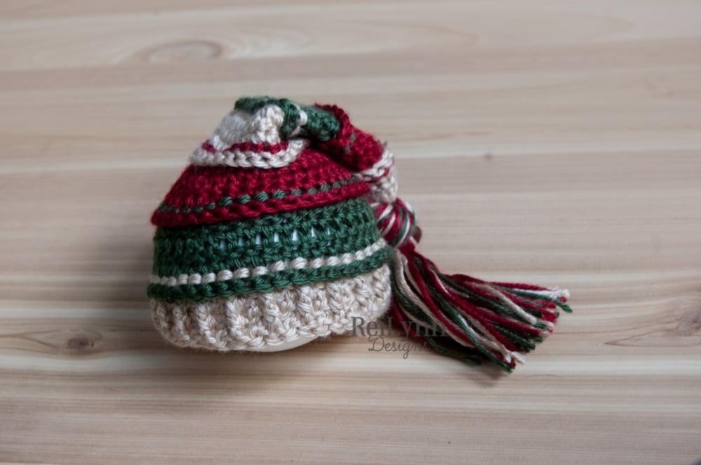 Image of Holly Jolly Christmas Tassel Hat- Bone, Deep Red, Evergreen