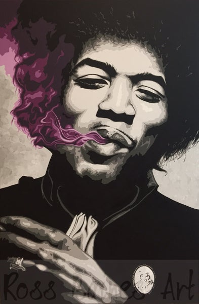 Image of 'PURPLE HAZE' (3x2ft canvas print)