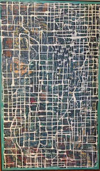"""Image of Untitled. """"City Map"""" by Bruce Brazzo"""