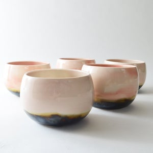 Image of Pink porcelain tea bowl