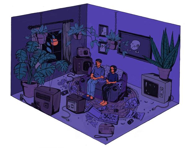 """Image of """"watching"""" print"""