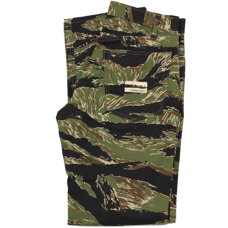 Image of MADE IN USA DOMEstics. Tiger Stripe Camo Black/Green.