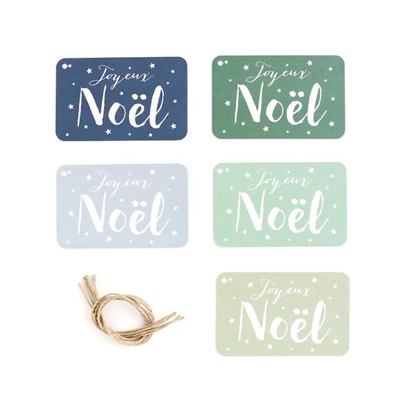 Image of 5 Étiquettes cadeaux JOYEUX NOEL / JANE