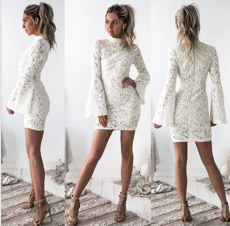 Image of A hot seller is a lace hollow dress