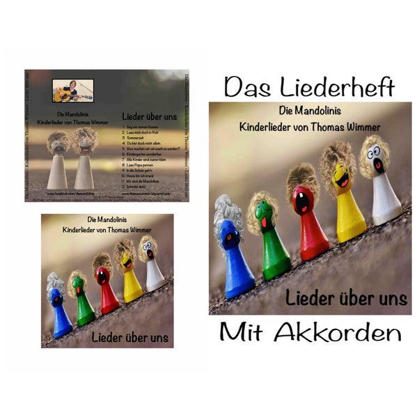 Image of Die Mandolinis - Lieder über uns - Kinderlieder von Thomas Wimmer CD+Liederheft / Download