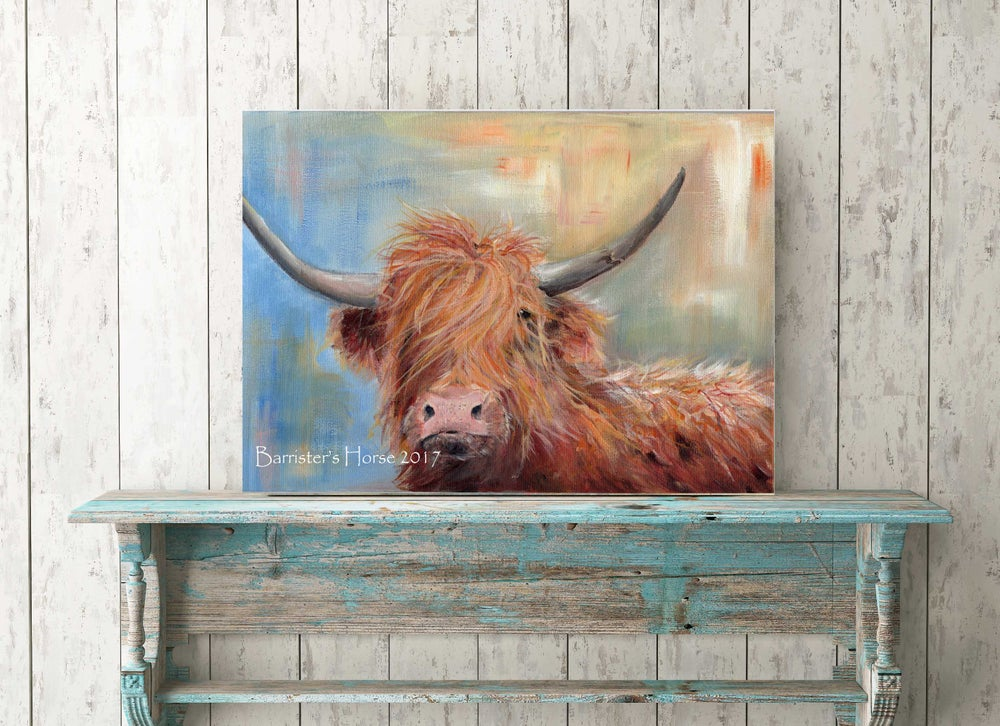Image of HAMISH THE HIGHLAND COW, FINE ART PRINTS